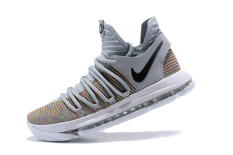 info for 3ee7d 1f2fe Popular Nike Zoom KD X 10 Multicolor Cool Grey 2018 Mens Basketball Shoes  897815-900