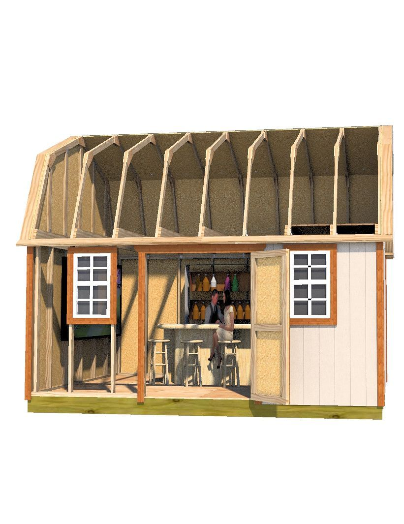 build this backyard u0027pub shed u0027 for all your yard parties shed