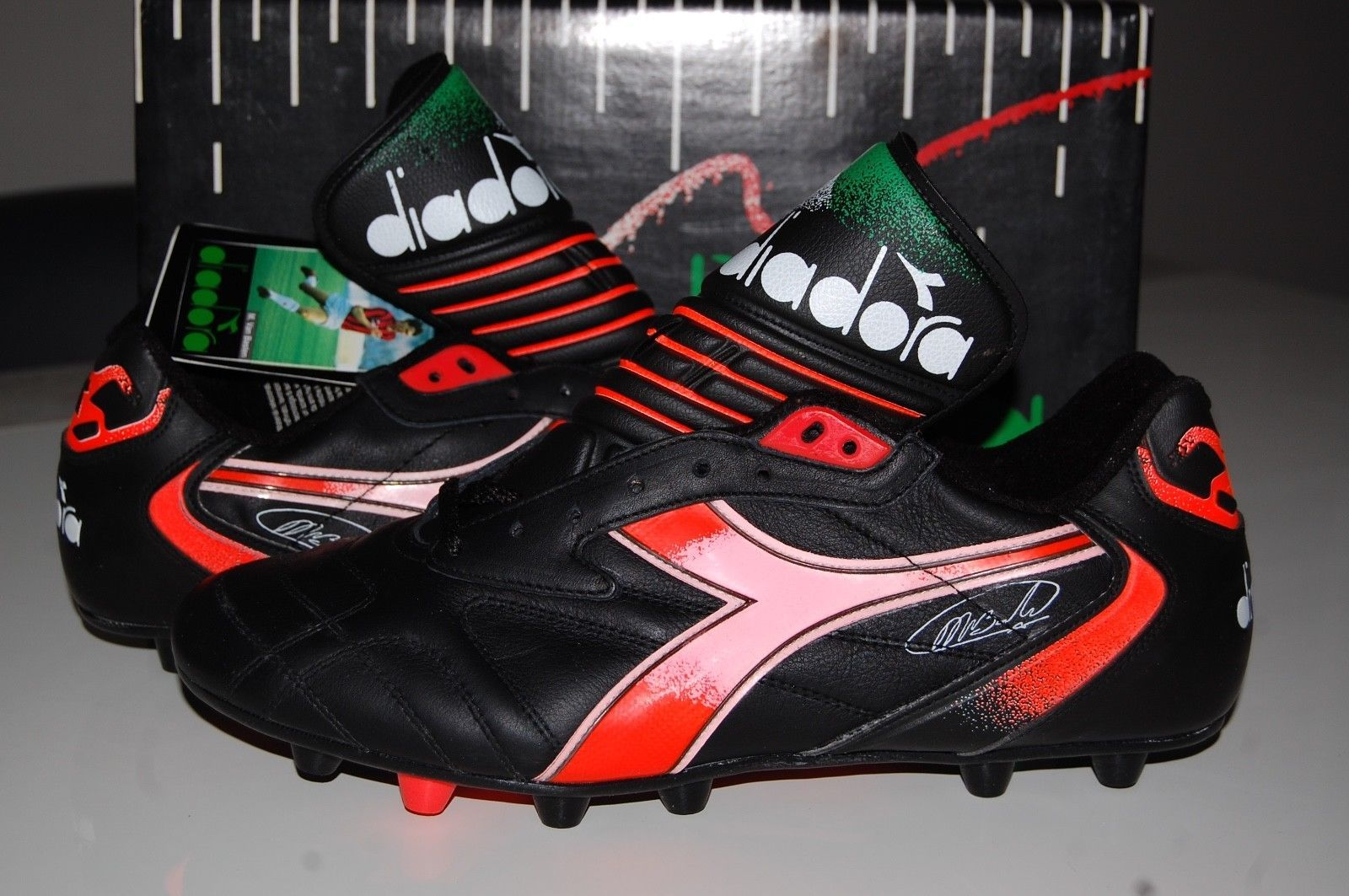 d1706dda DIADORA VINTAGE RAPID MARCO VAN BASTEN 10 UK NEW DEADSTOCK FOOTBALL ...