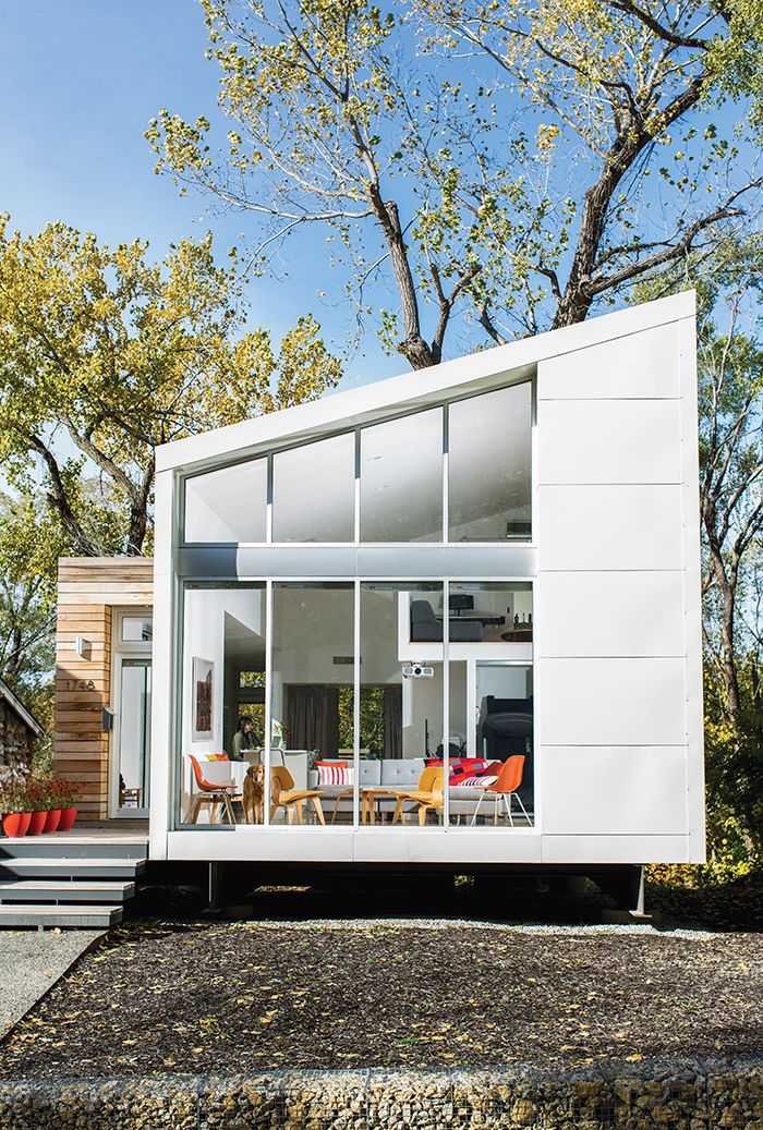 Affordable Kansas City Home Steel Facade With Cypress Cladding
