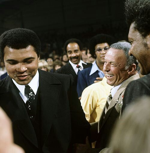 Frank Sinatra and Muhammad Ali in Las Vegas 1977