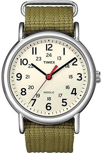 Timex Men s T2N6519J Weekender Olive Slip-through Strap Watch e807506fe06
