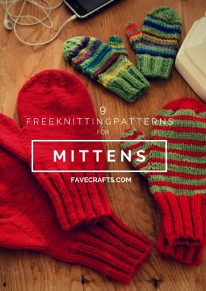 9 Free Knitting Patterns for Mittens   FaveCrafts.com by ...