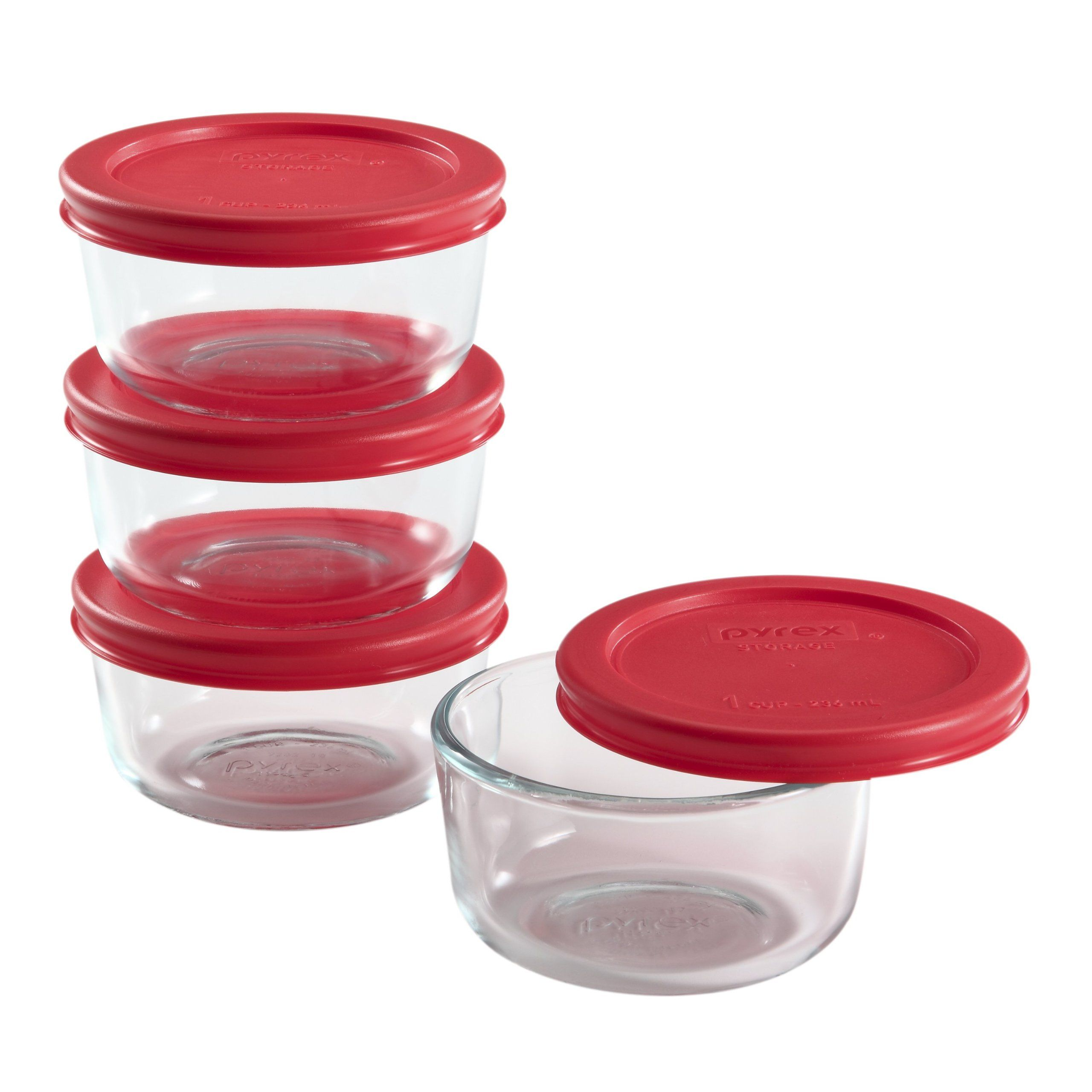 Amazon Com Pyrex 8 Piece Glass Food Storage Set With Lids Pyrex Glass Storage Containers Wi Glass Food Storage Glass Food Storage Containers Food Storage Set