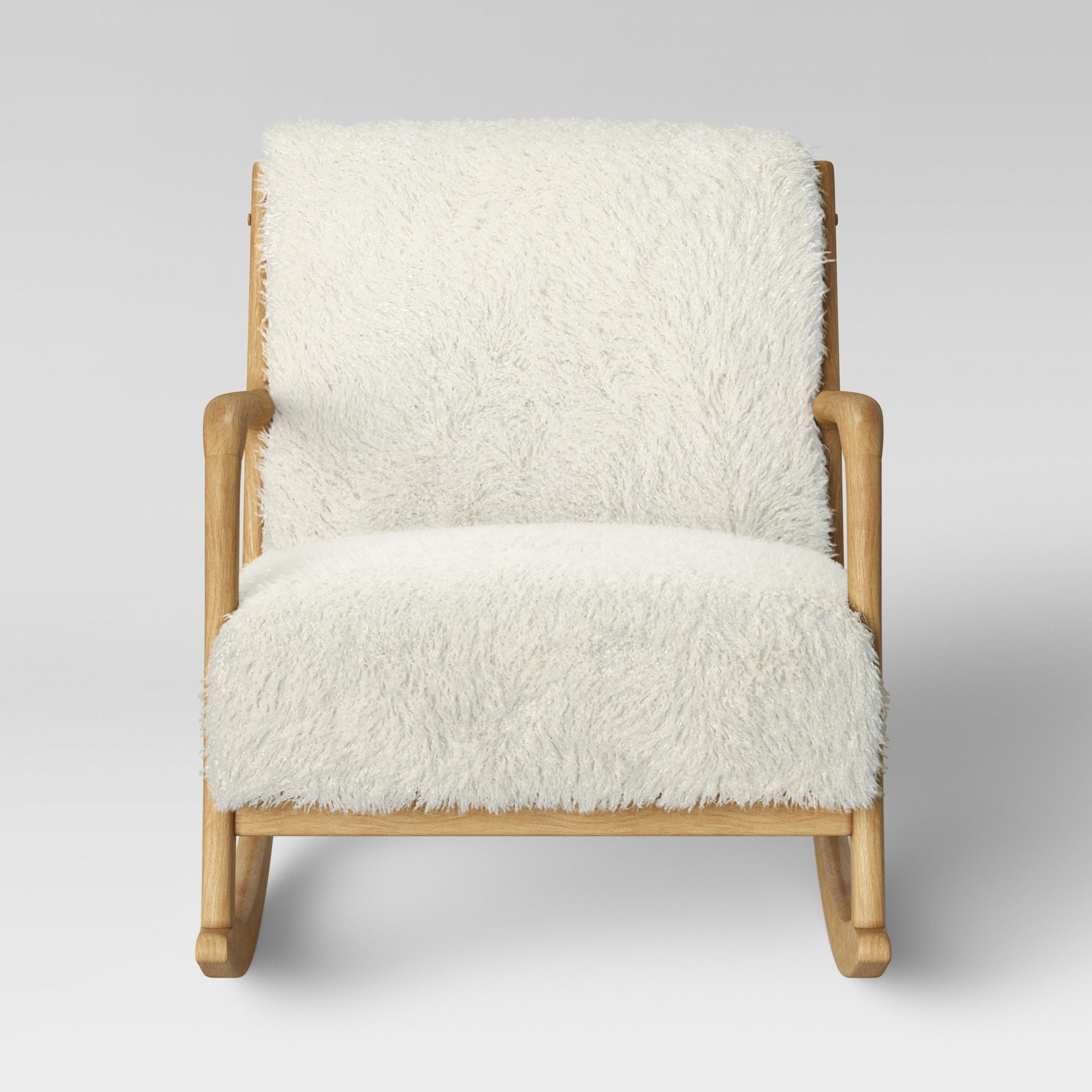 Esters Wood Arm Chair Sherpa White Project 62 Products