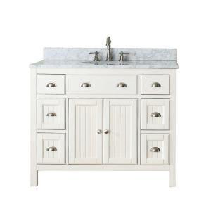 Vanity In White With Granite