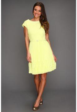 8d408152e ShopStyle.com  Ted Baker - Terna Pleated Full Skirt Dress (Pale Yellow) -  Apparel  157.99