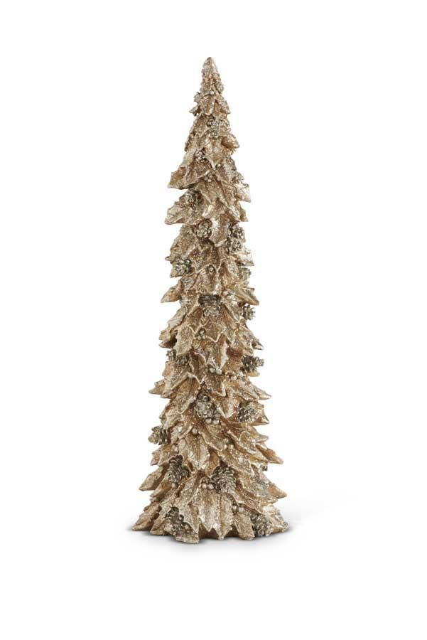 20 in Gold Holly Leaf Christmas Tree Christmas tree, Leaves and