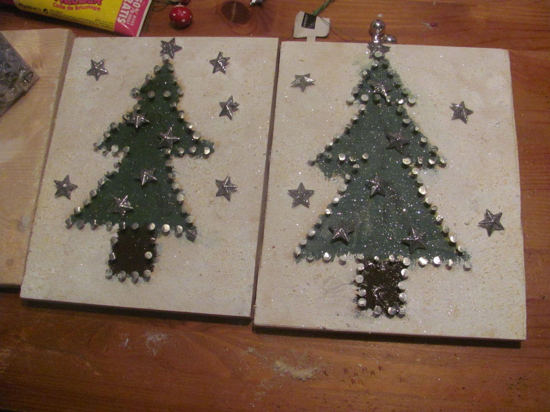 nagelbild tanne als weihnachtsgeschenk f r die gro eltern. Black Bedroom Furniture Sets. Home Design Ideas