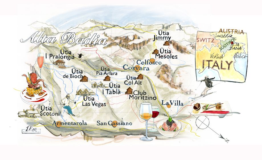 Alta Badia Mountains Map Mapquest Pinterest Italy