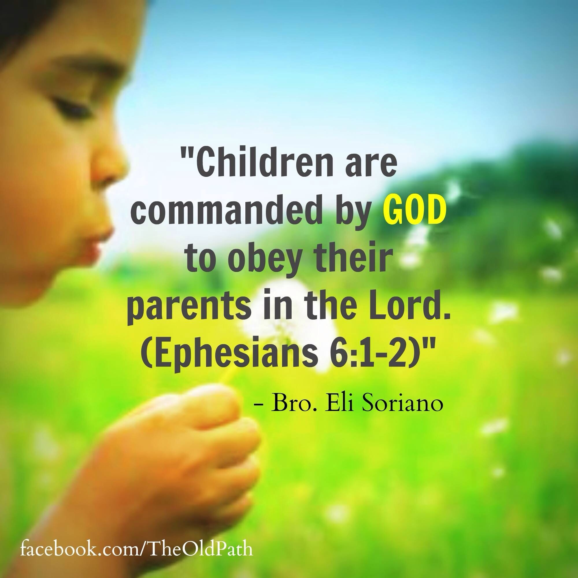 Ephesians 6 Watch The Video What Kind Bible Quotes The Lord Tv Link Parents Children ""