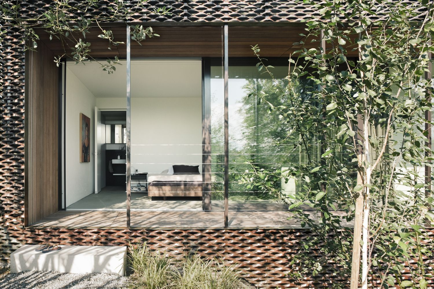 View from outside. a f a s i a: Peter Kunz Architektur