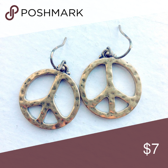 Download ⚡️SALE UNTIL 4⚡️Peace Sign Earrings 🔶 gold peace signs ...