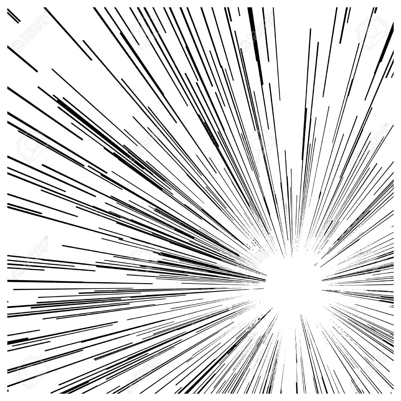 Illustration Vector Abstract Speed Motion Black Lines With Circle In The Middle Aff Abstract Speed Illustration Vector Motion Manga