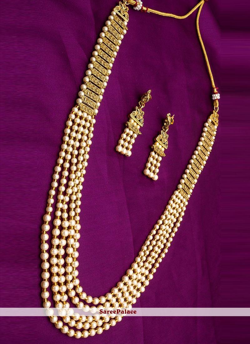 Moti necklace set in gold necklace set pinterest gold