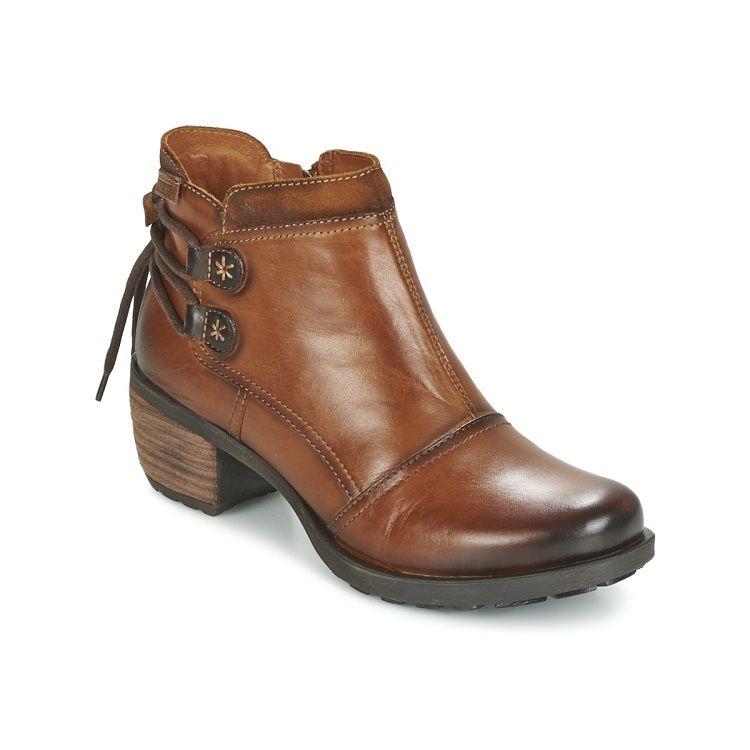 Pikolinos LE MANS 838 Cognac - Livraison Gratuite avec  - Chaussures Bottine Femme