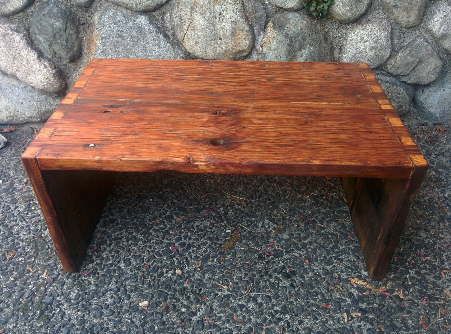 Reclaimed Douglas Fir Coffee Table With Dove Tail Joints