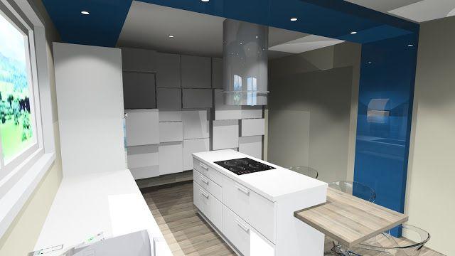 Conception d\u0027une cuisine design, à la fois épurée et déstructurée