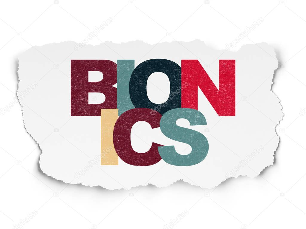 Science Concept Painted Multicolor Text Bionics Torn Paper Background - S , #AFFILIATE, #Painted, #Multicolor, #Science, #Concept #AD