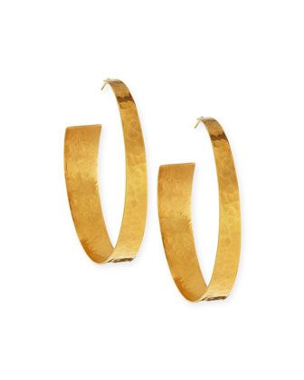 Nest Satin-Finish Hoop Earrings vyTG51KmMF