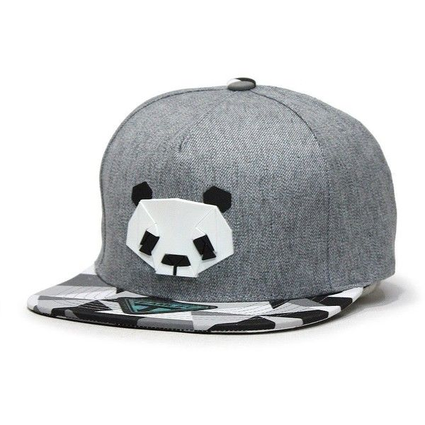 e5487b25bec Amazon.com  Animal Panda Penguin Black White Flat Bill Snapback ...