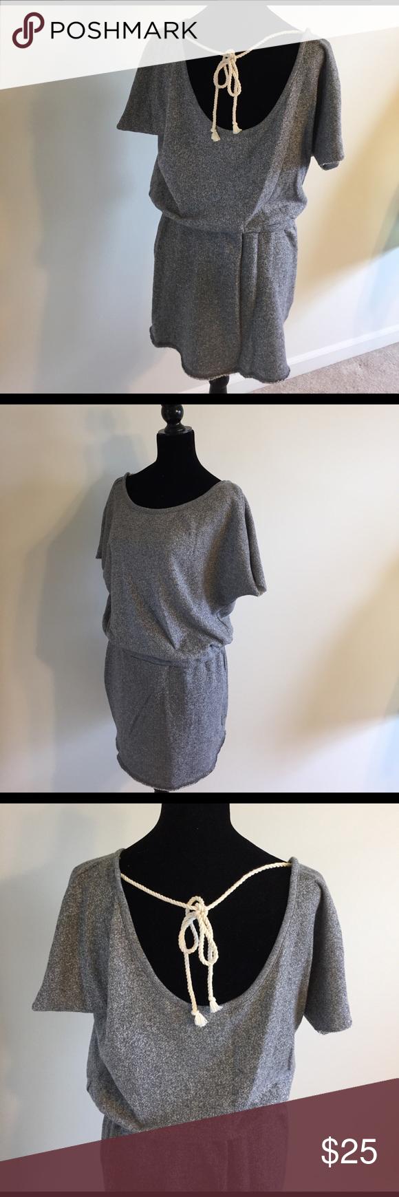 Victoria's Secret Jersey Sweatshirt Dress Cozy short sleeve jersey sweatshirt gray dress from Victoria's Secret. Great for the beach or a casual day out! Excellent condition! Victoria's Secret Dresses