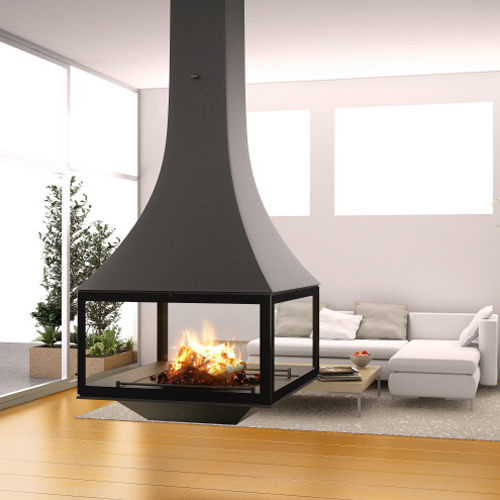 Jcbordelet Julietta 985 Black Line Suspended Woodburning Stove Now Available From Www Fireplacep Hanging Fireplace Freestanding Fireplace Modern Fireplace