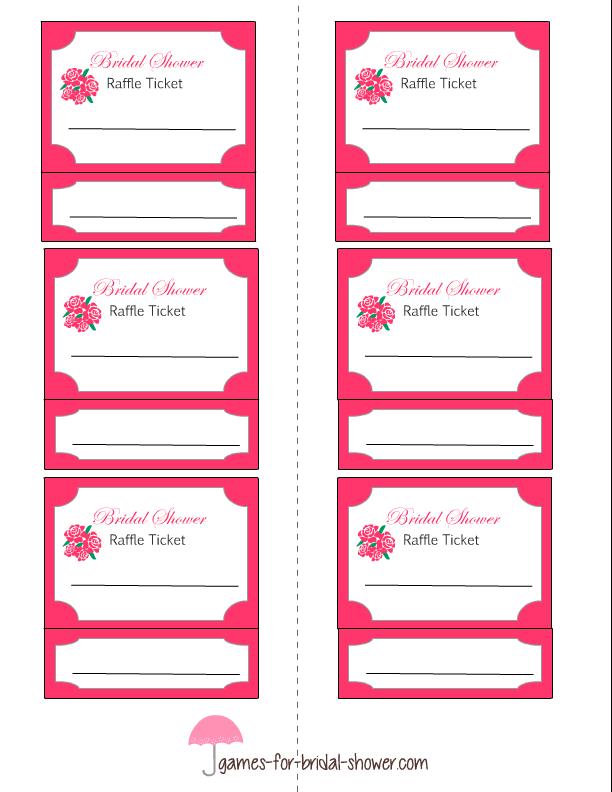 free printable bridal shower raffle tickets brunch free wedding