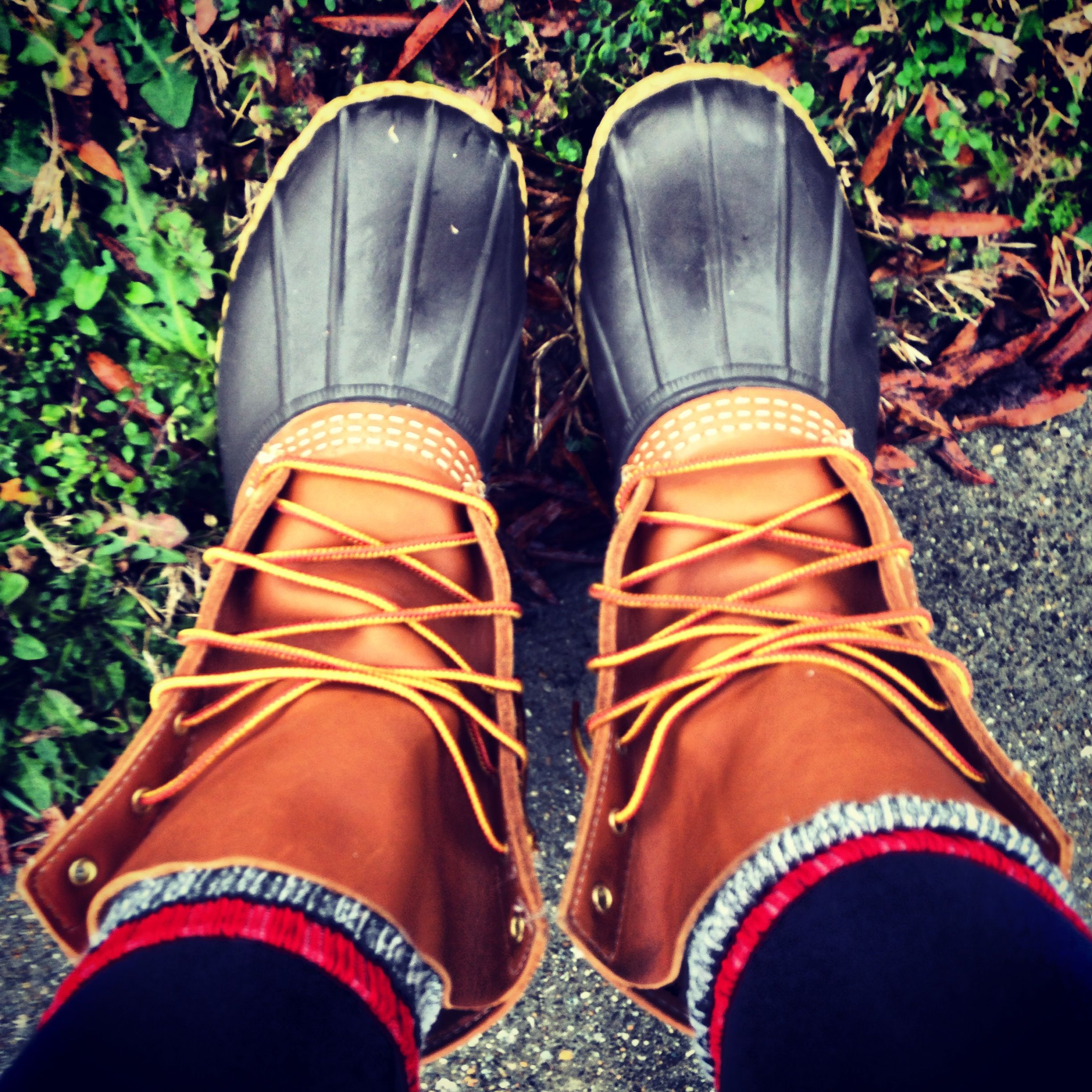 Bean boots, warm comfy feet and cute... Can't wait till mine come in the mail!!