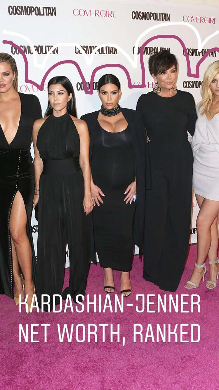 Every Member Of The Kardashian Jenner Family Ranked By Net Worth