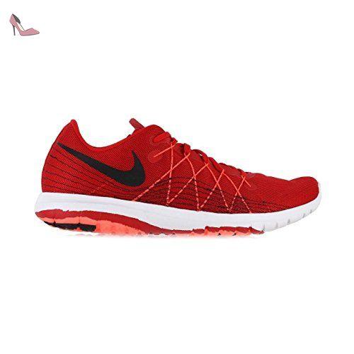Nike Flex Fury 2, Chaussures de Running Entrainement Homme, Rouge / Noir /  Orange