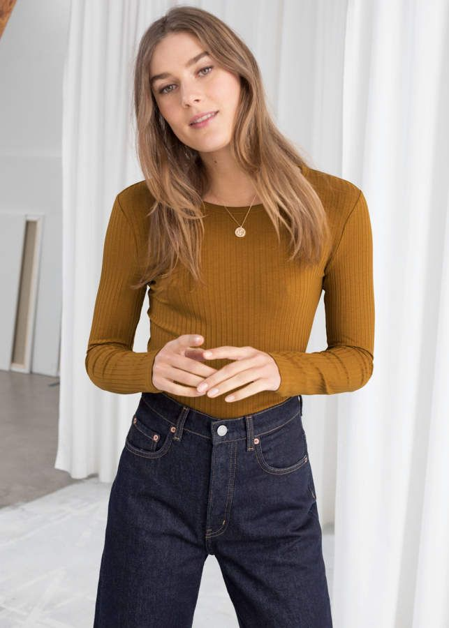 c8aef530a9bef2 And other stories Ribbed Long Sleeve Top in 2019 | Products | Long ...