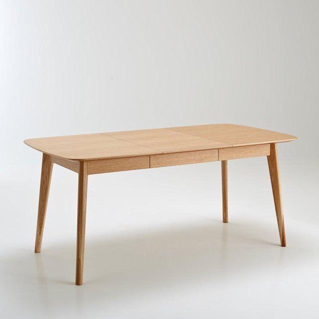 Table de salle à manger évolutive de 4 à 10 couverts, biface La