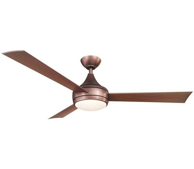 Donaire 52 Outdoor Ceiling Fan With Light And Remote Control
