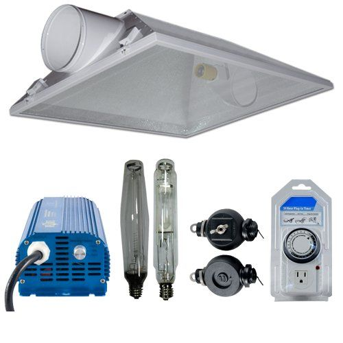 Grow Light Kit 8 Horizon Super Nova Air Cooled Reflector 26 X 37 1000w Mh Bulb 1000w Hps Bulb 1000w Digital Ballast Light Hang Light Hanger Grow Lights Ballast