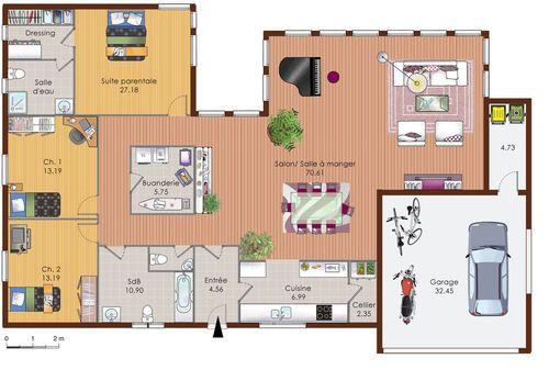Une maison en ossature bois Modelos de casas Pinterest - faire un plan maison