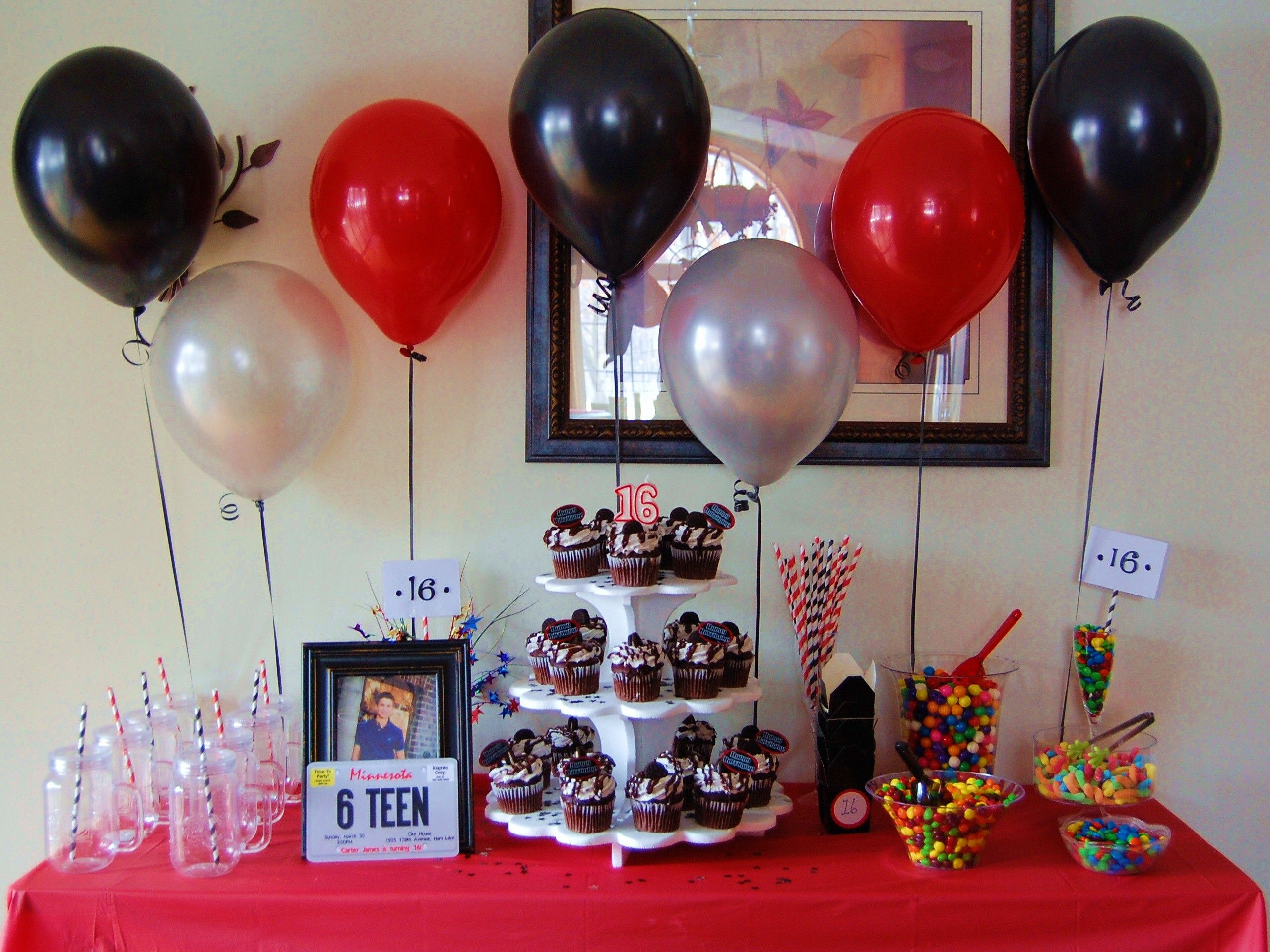 Sixteenth Birthday For A Guy Sweet Sixteen Party Ideas And Decor