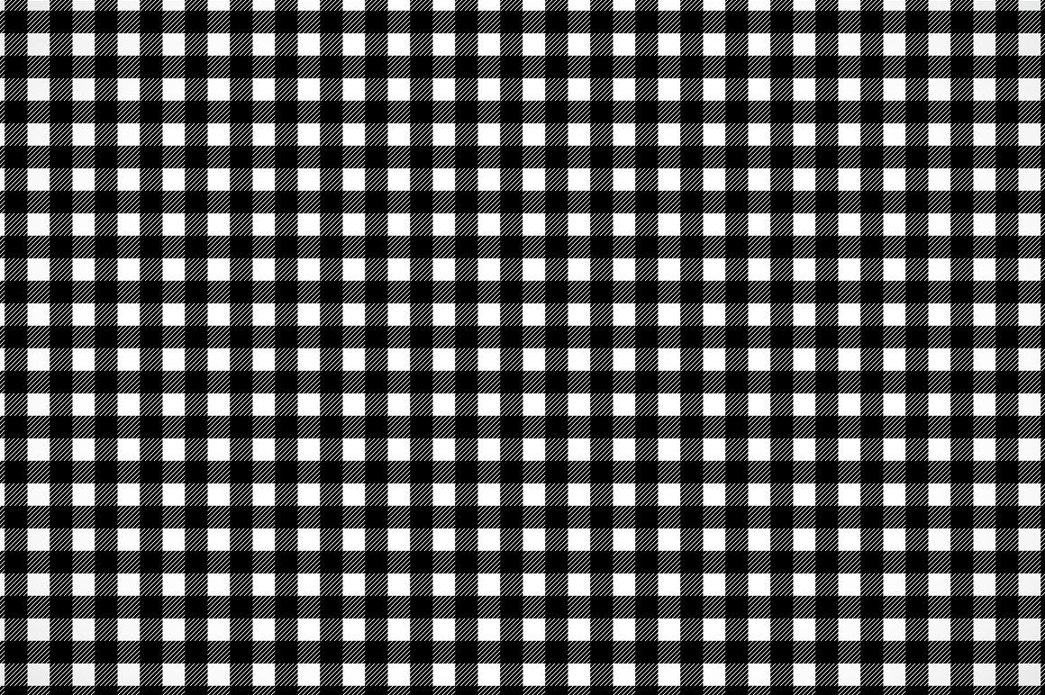 Black And White Gingham Pattern Black And White Pattern