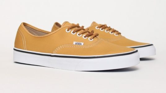 Vans Authentic Brushed Twill - Yellow  ffc9a0072