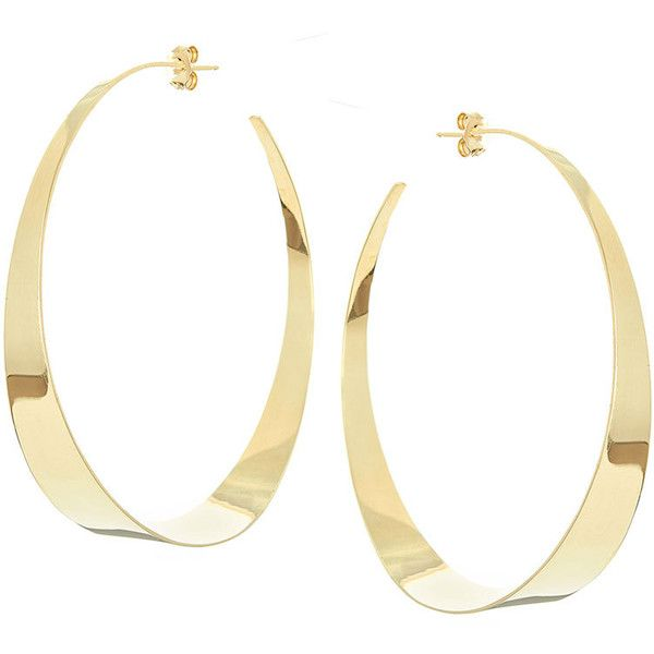 Lana Large Flat Gloss Hoop Earrings 2 875 Liked On Polyvore Featuring Jewelry