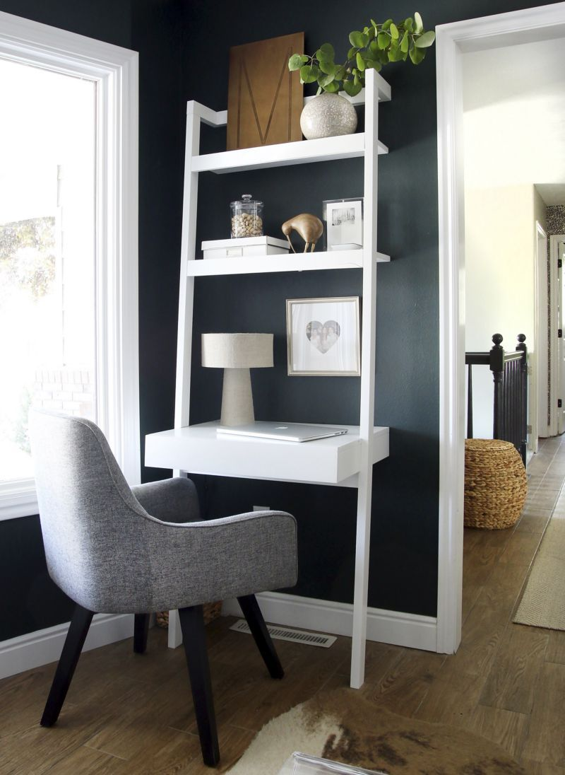 My own little corner desk idea sawyer white leaning desk from crate barrel