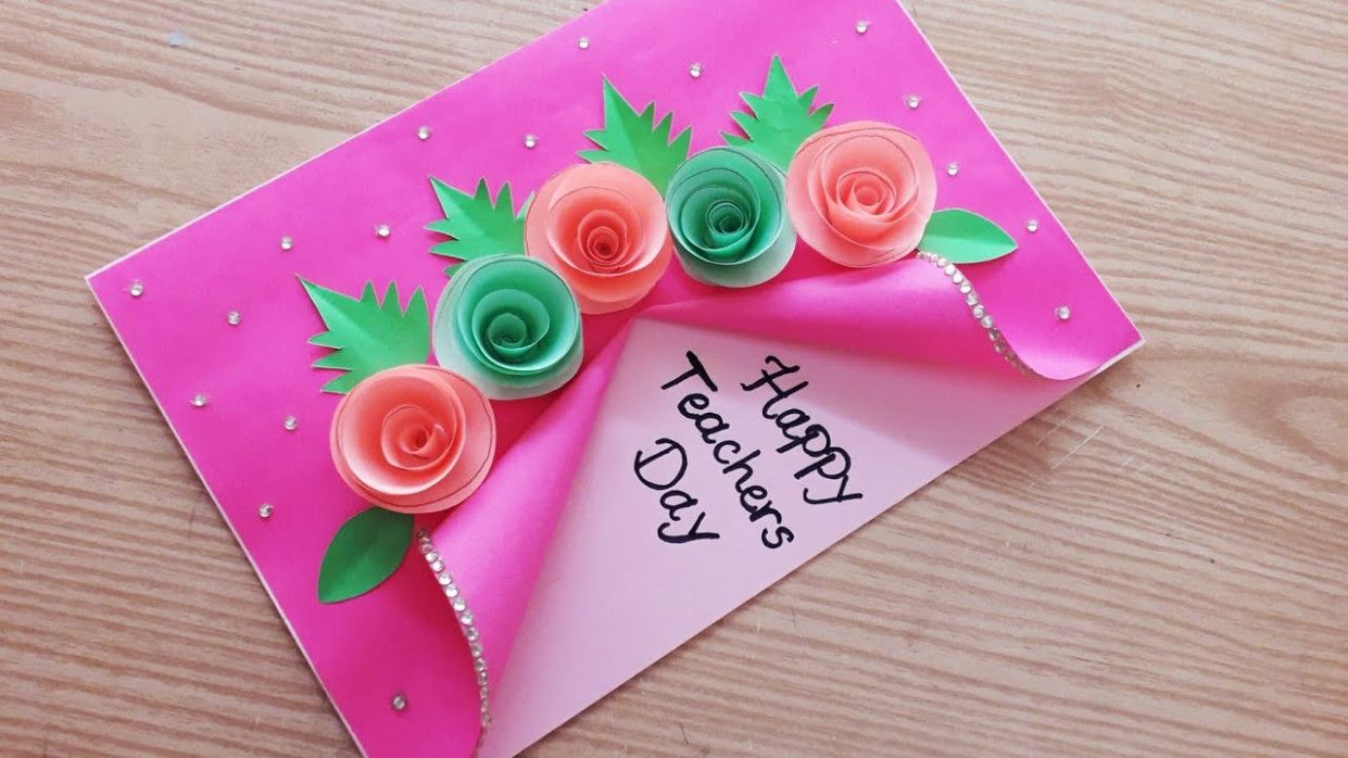 Special Teachers Day Card New Year Cards Handmade Teachers Day Card Card Design Handmade