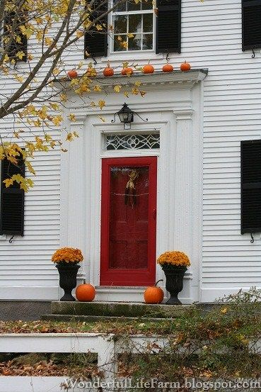 Autumn Front Doors In New England England Houses New