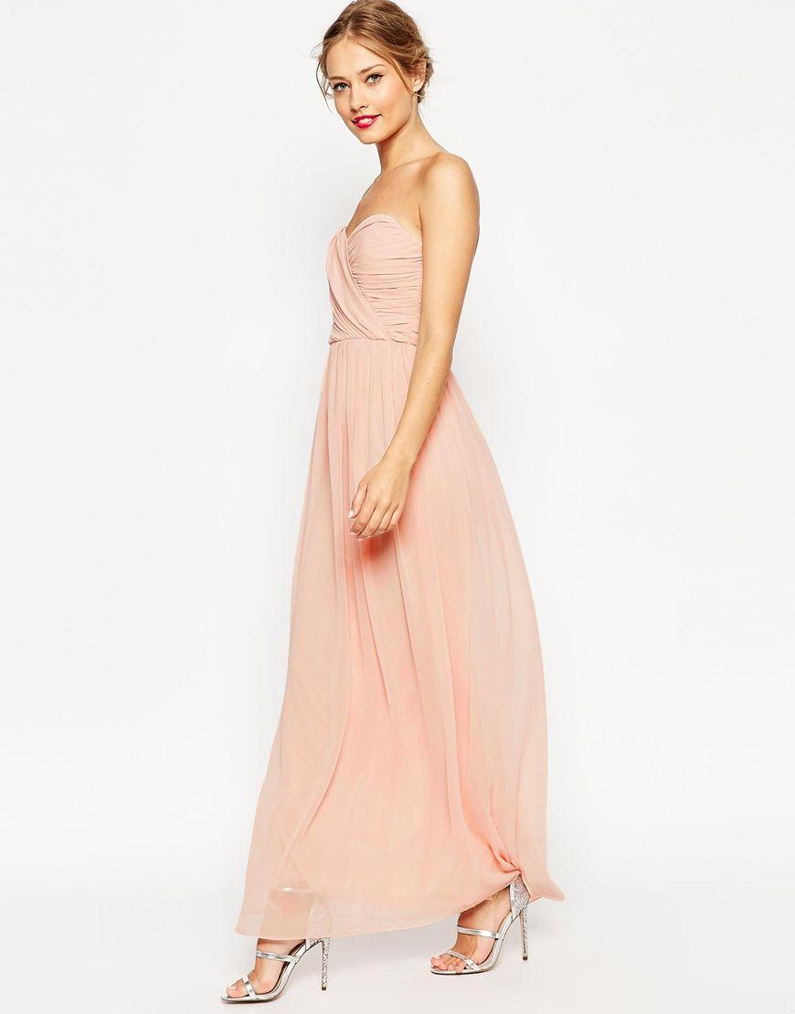 also comes in maroon + navy ASOS WEDDING Bandeau Maxi Dress ...