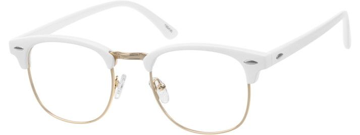ef5368952b White Browline Glasses  195430