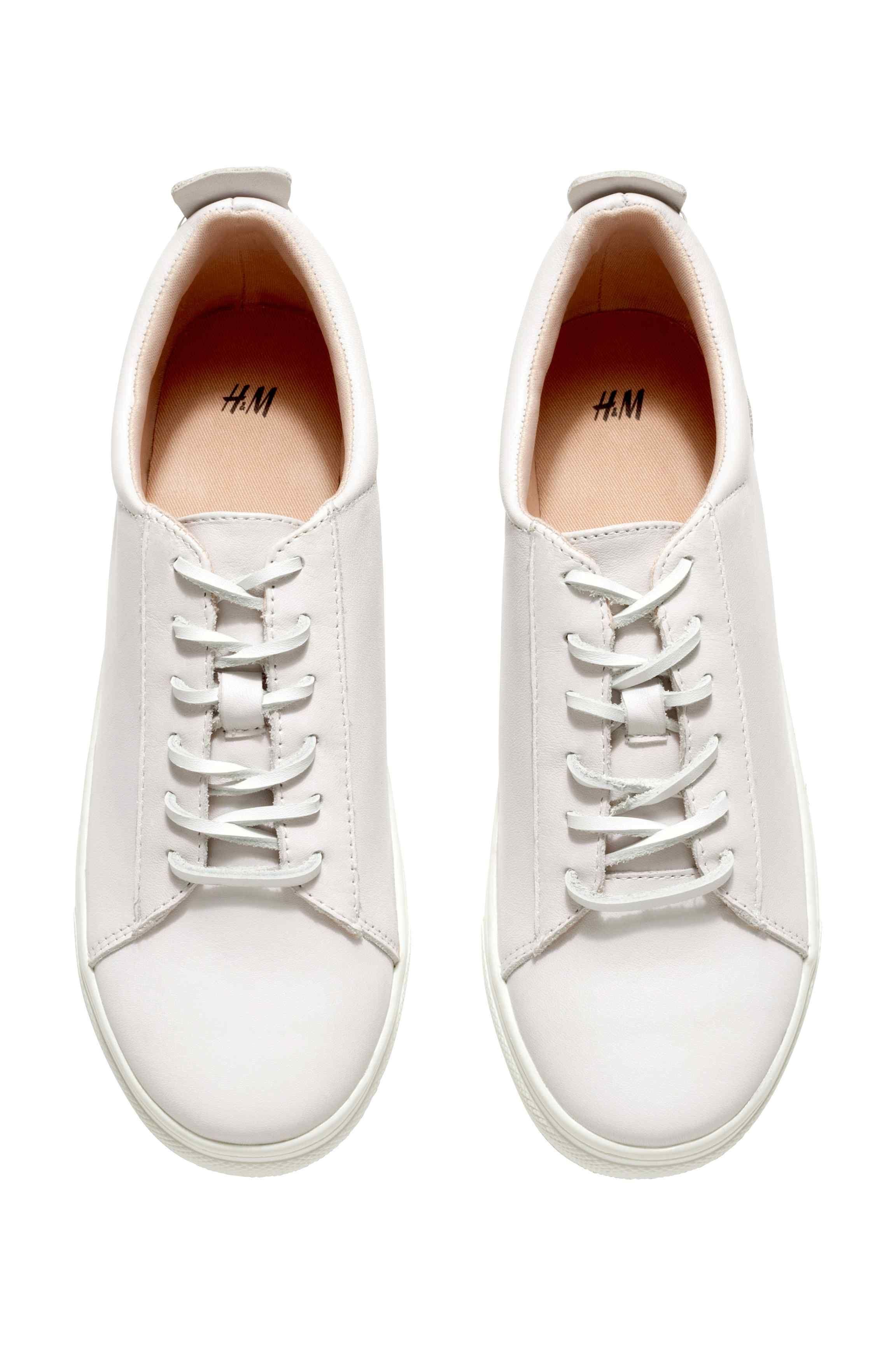 Skorzane Buty Sportowe White Leather Sneakers Leather Sneakers Sneakers