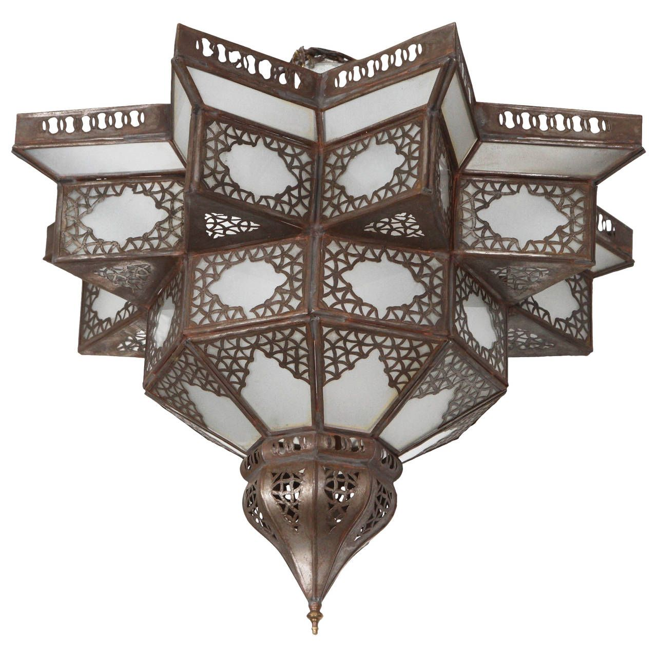 Moroccan Star Shape Frosted Glass Light Shade | Glass light shades ...