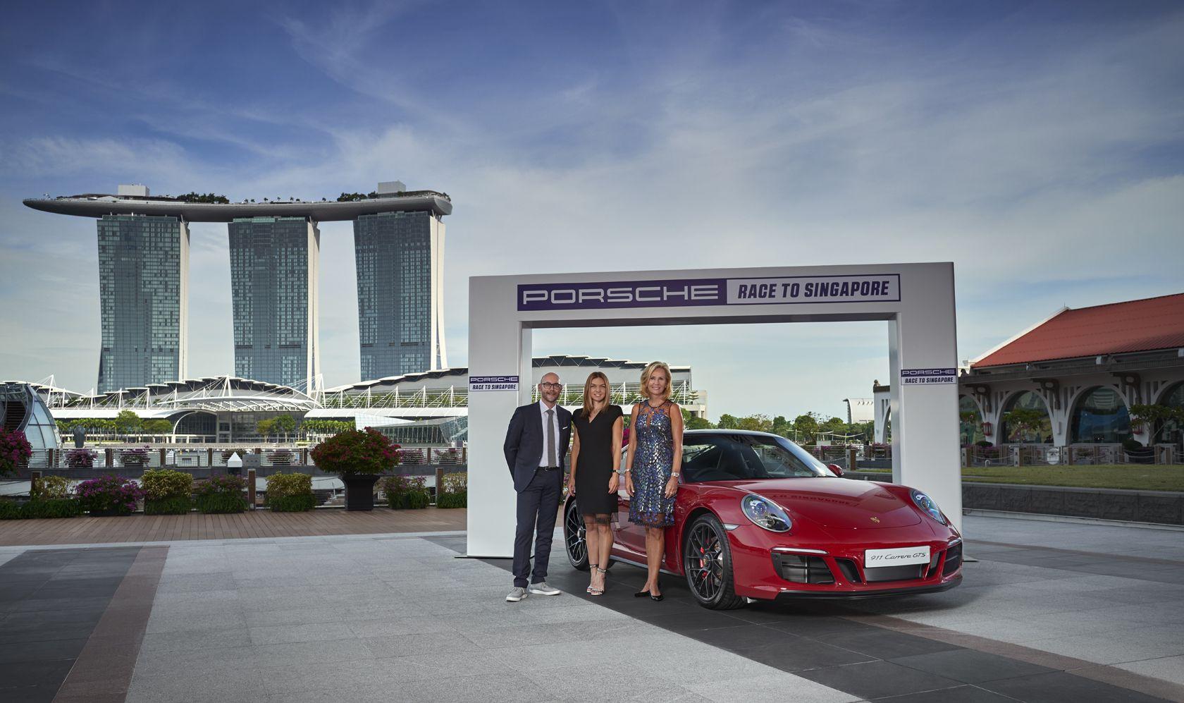 Porsche WTA Race to Singapore Marina bay sands, Marina
