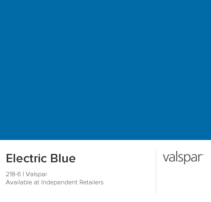 Electric Blue From Valspar Valspar Paint Colors Color Chip