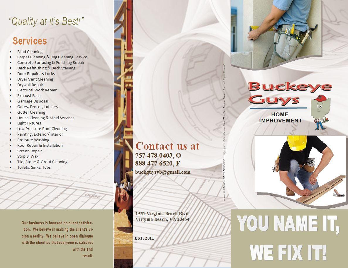 best handyman flyer templates designs web resources contractors plumbers electricians handyman brochures branding marketing materials newsletters